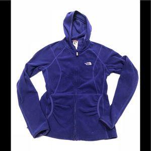 🐶 The North Face purple fleece hoodie s